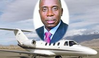 Rivers State Governor, Rotimi Amaechi and his impounded jet