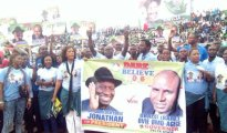 Obaisi Ovie Omo-Agege overwhelming supporters stepping into Ogbe Stadium Benin City for the unity rally