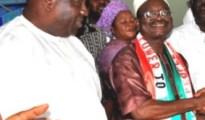 Olorogun (Barr) Fred Majemite (l) and his Principal, Sir Tony Obuh