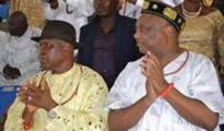 (L-R) Chief Omerhor O'tega and Chief Great Ogboru