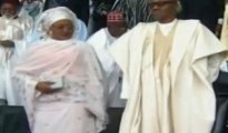 Muhammadu Buhari and his wife during the presidential inauguration ceremony