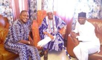 Olowu of Owu with Carnival'S Artistic Director, Mr. Biodun   Abe and Okenla