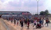 Biafra protesters block Onitsha bridge as soldiers retreat
