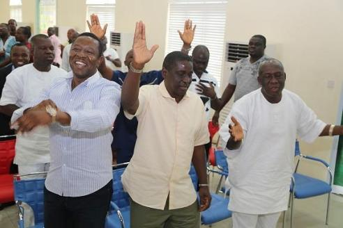 Okowa's loyalists celebrating hois victory at the Appeal Court