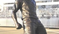 A statue of Thierry Henry  erected outside the Emirates stadium in 2011 Credit: GETTY IMAGES