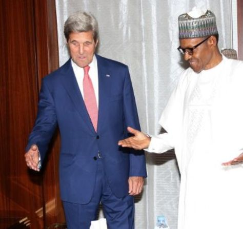 US Secretary of State, John Kerry and President Muhammadu Buhari