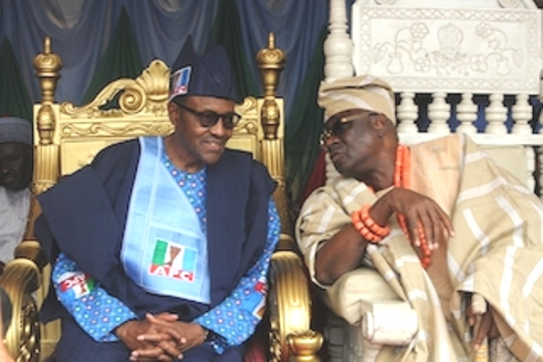 Image result for Oba of Lagos president Buhari