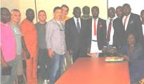 The Iitalian investors with Delta State government officials