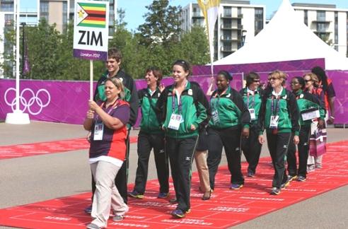 Zimbabwe Rio Olympic team
