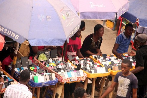 Buying and selling activities at computer village,Ikeja,Lagos