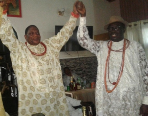 Urhobo leader and the Okunna of Agbon Kingdom, Chief Johnson Modika Barovbe raised up Olorogun Moses Taiga in recorgnition of his leadership qualities