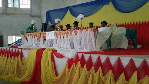 Urhobo leaders on the high table