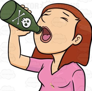A female committing suicide by drinking a bottle of poison- FILE PHOTO