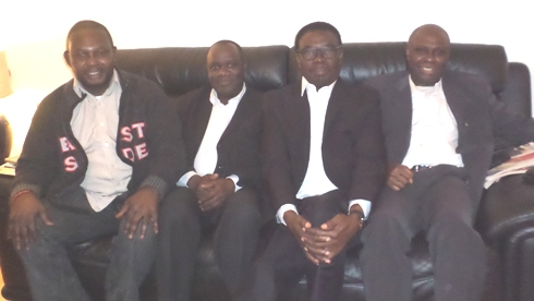 D L-R- Chief Angus Omasoro, Mr Robert Onojeruo, Chief Johnson Barovbe and Mr Ese Ariemugbovwe