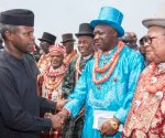 Vice President Osinbajo and some Niger Delta leaders during one of his peace meetings......