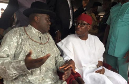 Chief James Ibori and Delta State Governor, Dr Ifeanyi Okowa