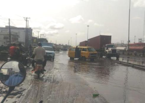 Dilapidated Apapa Ports access road