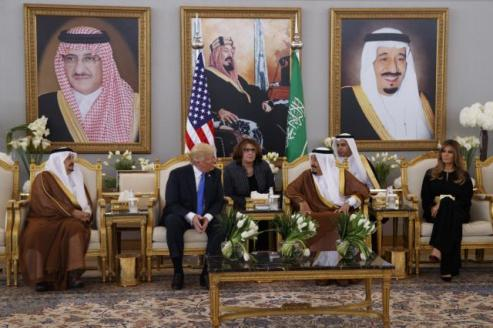 President Donald Trump arrived in the Middle East on Saturday, touching down in Saudi Arabia to begin his first trip abroad, a visit aimed at forging stronger alliances to combat terrorism while seeking to push past the series of controversies threatening to engulf his young administration.