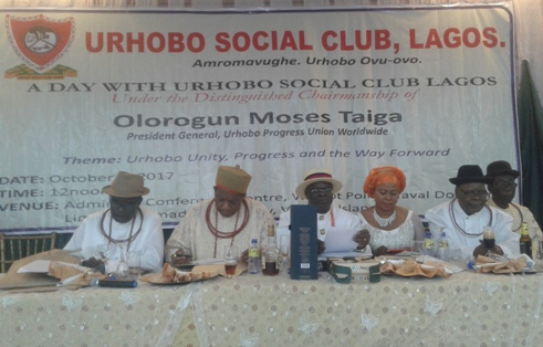 L-R Chief Johnson Barovbe, UPU PG Olorogun Moses Taiga, Prince Austin Enajemo-Esire and others