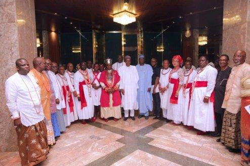 Buhari Receives Olu Of Warri, Accuses  Sagay Of  Stepping On Toes