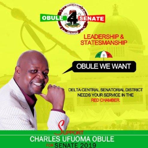 2019: Urhobo Leaders, Youths Back Charles Obule For Senate