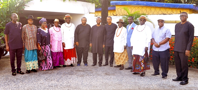 Urhobo Social Club Lagos Commiserate With Senator Dafinone's Family In Lagos (PHOTOS)