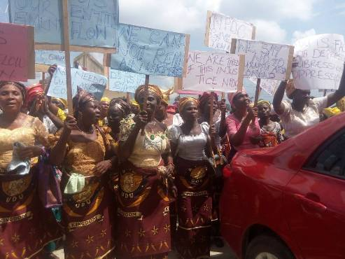 Udu Women Protest Allocation Of Police Station Under Burutu Area Command