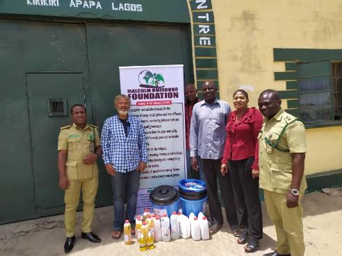 COVID-19: Malcolm Omirhobo Foundation Donates Sanitizers, Buckets  To The Needy  In Lagos