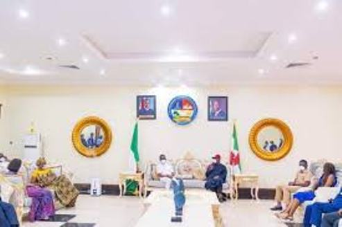 Edo Governor, Deputy, Wives Storm Delta Government House In Appreciation Visit