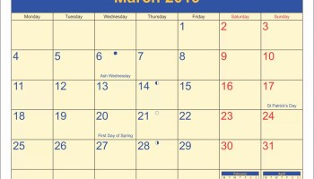 March 2019 Calendar Canada With National Bank and Public