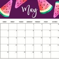 Cute May 2020 Calendar Printable HD Wallpaper Floral Design