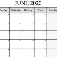 Editable June 2020 Calendar Printable Template With Holidays