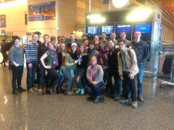 Group at Logan Airport