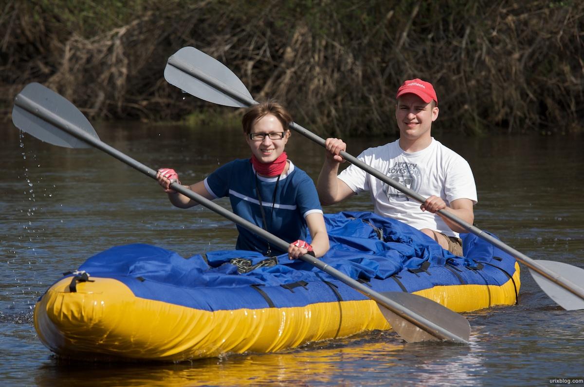 2009 река Дубна сплав Россия путешествие катамаран лодка байдарка