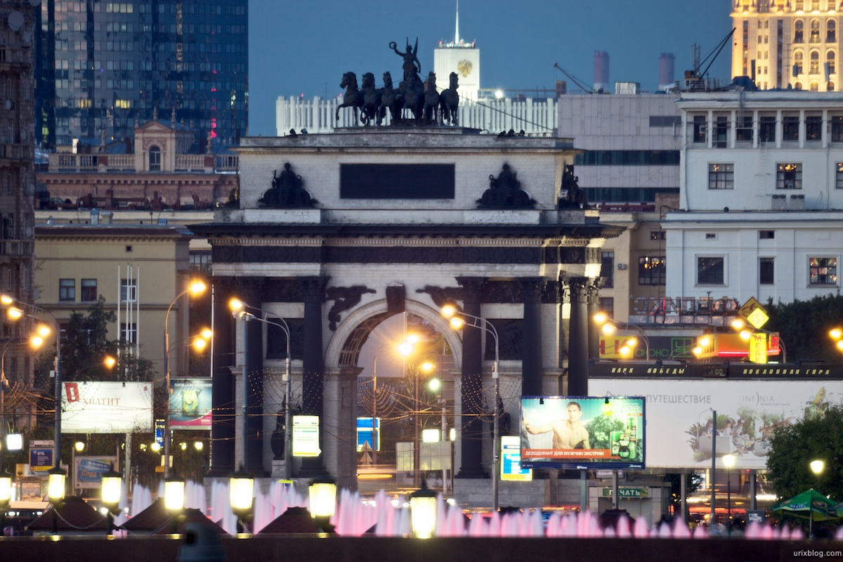Canon 5D mark 2 Samyang 800mm f/8, Moscow park Pobedy (Victory), triumphal Arch, gate, 2010