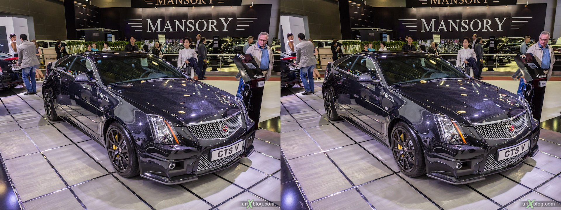 2012, Cadillac CTS V, Moscow International Automobile Salon, auto show, 3D, stereo pair, cross-eyed, crossview