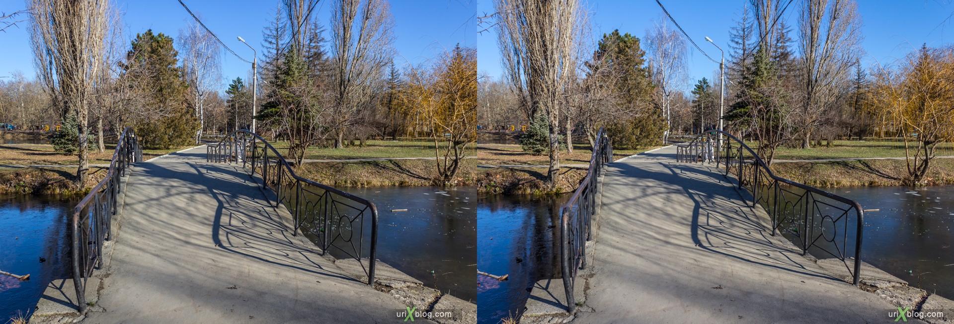 2012, Крым, Россия, Украина, Симферополь, Гагаринский парк, зима, 3D, перекрёстная стереопара, стерео, стереопара