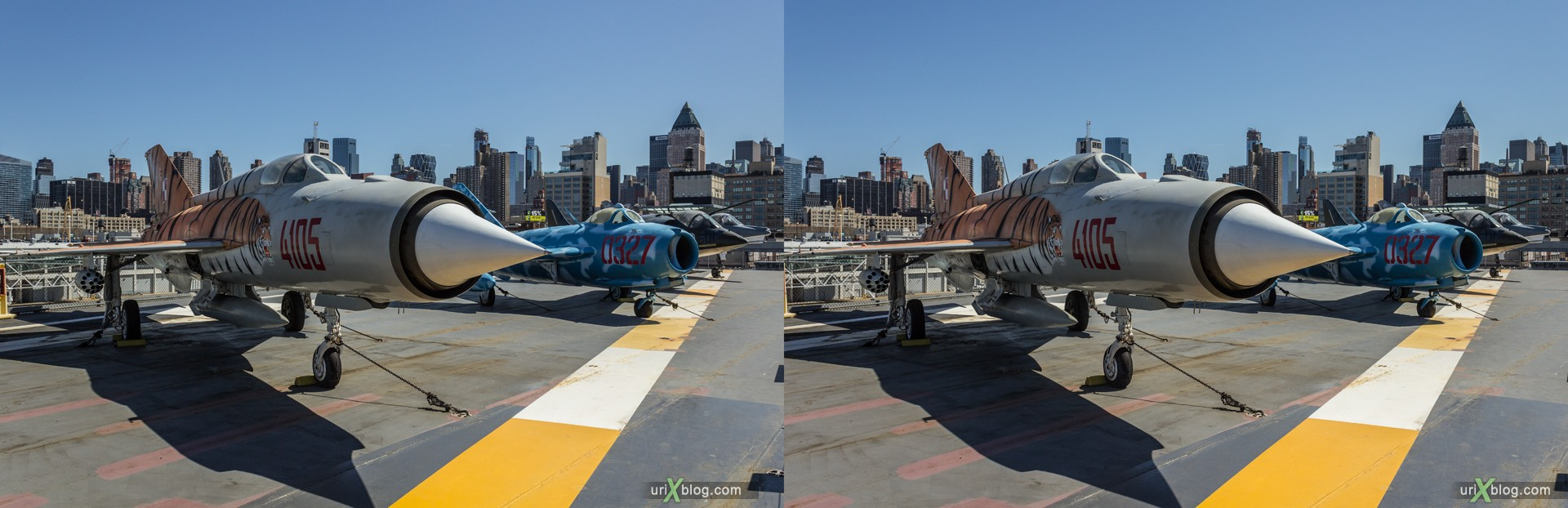 2013, USA, NYC, New York, aircraft carrier Intrepid museum, MiG-21, sea, air, space, ship, submarine, aircraft, airplane, helicopter, military, 3D, stereo pair, cross-eyed, crossview, cross view stereo pair, stereoscopic
