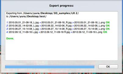 xstereo batch process screenshot