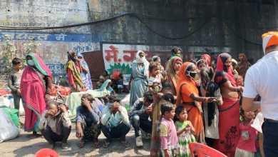 Photo of दिल्ली से पैदल चलकर सैकड़ो गरीब पहुँचे जयंत बैरियर के पास