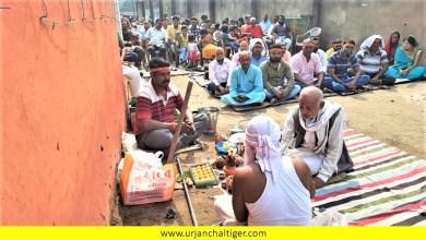 Photo of पूजन : दुर्गा मंडप में दुर्गा मंदिर निर्माण के लिए भूमि पूजन