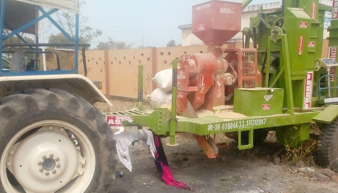 Tractor Operated Rice Mill