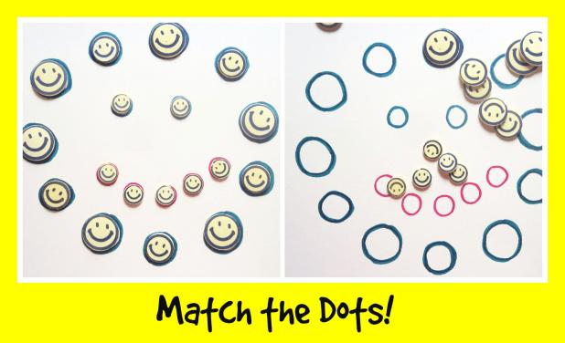 montessori activity match the dots