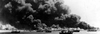 De Urker vloot vaart uit naar Amsterdam om het IJ te versperren