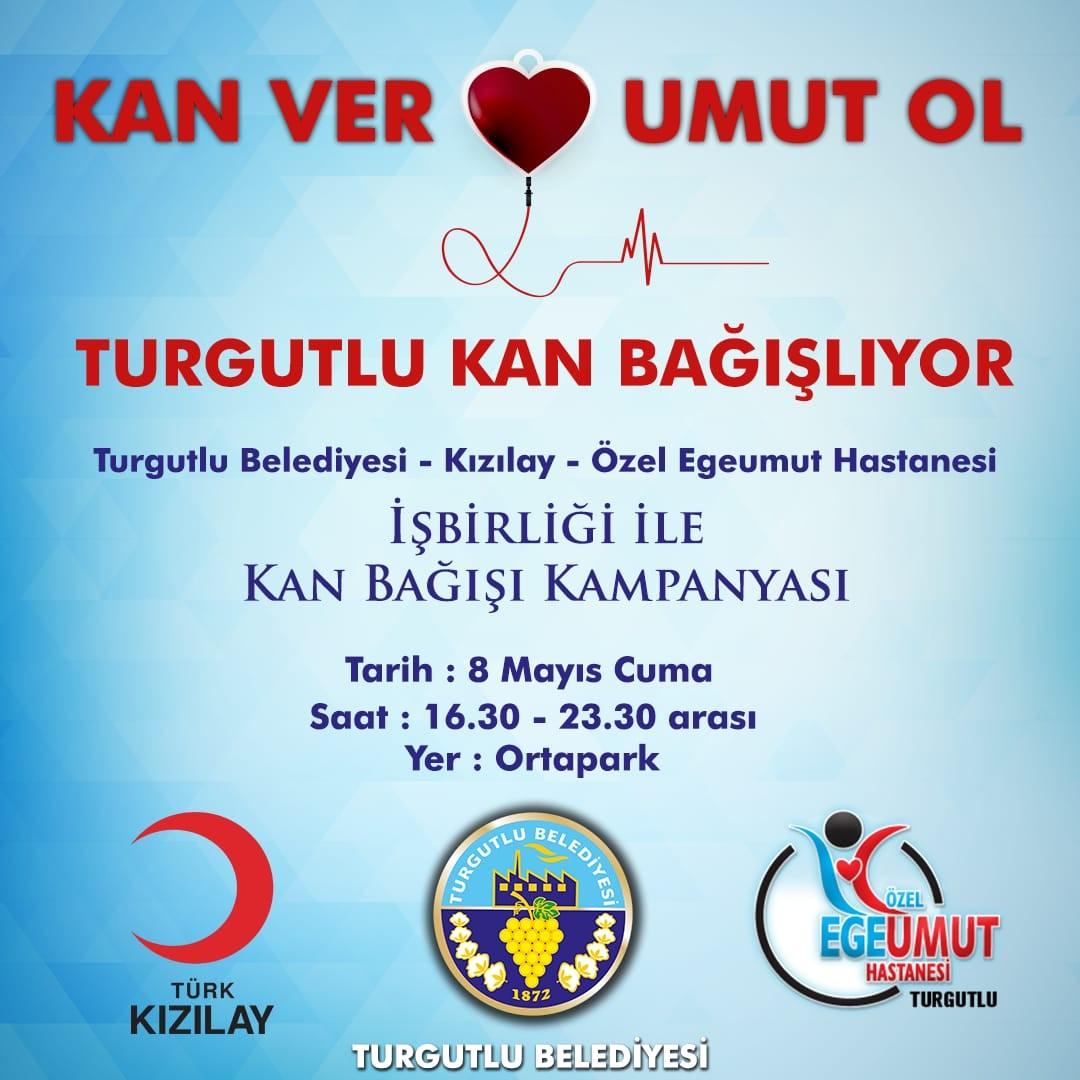 Turgutluda Kan Bağışı Kampanyası Düzenlenecek