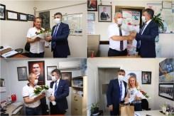 Başkan Sandaldan Muhtarlara Bayram Ziyareti