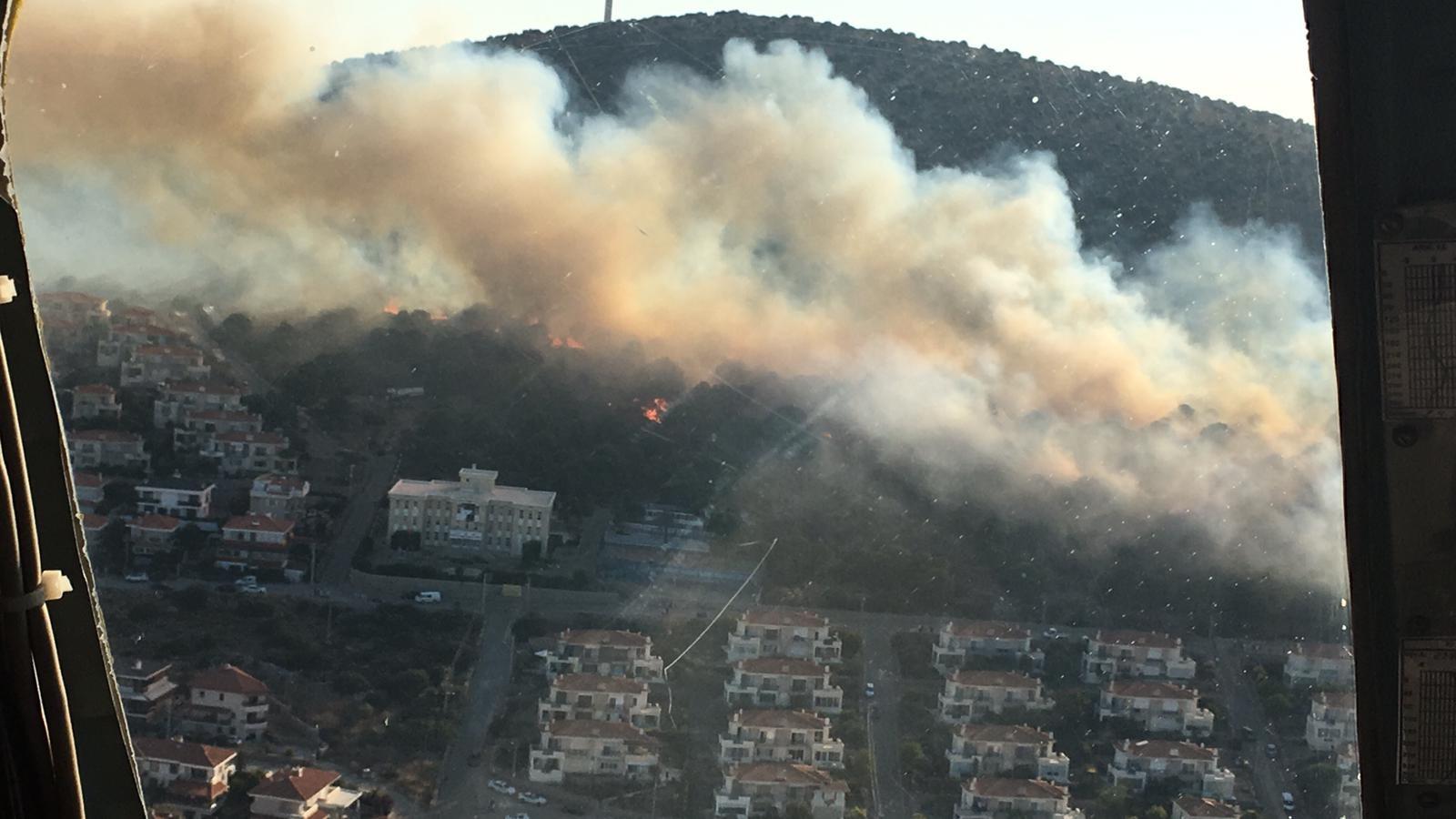 Ünlü Tatil Merkezi Çeşmede Yangın