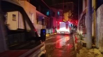 İzmirde Korkutan Ev Yangını