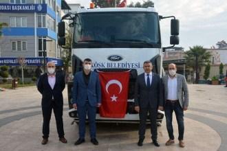 Bakanlıktan Köşk Belediyesine Arazöz Hibesi