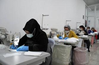 Kadın Üretim Kooperatifi 1,5 Milyon Maske Üretti